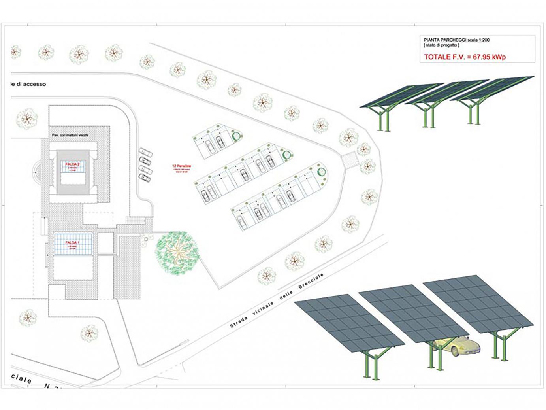 Progetto per impianti fotovoltaici a servizio di attività ricettiva-ristorativa per potenza complessiva 100+68 KW
